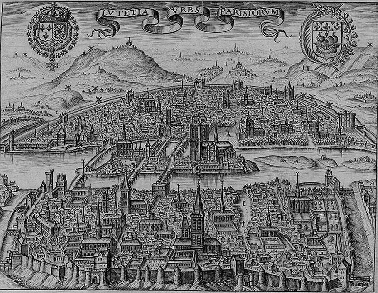 A View of Paris from around 1600