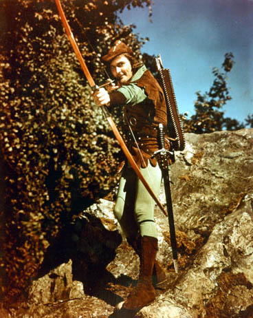 Errol Flynn as Robin Hood