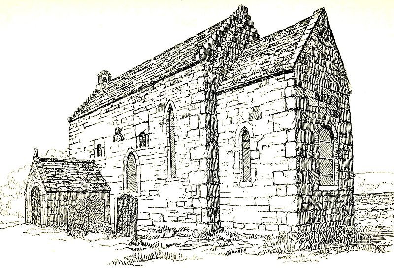 An illustration of Escomb Church, an early Anglo-Saxon church