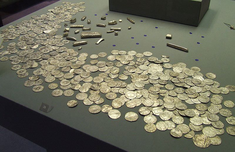 Coins and bullion from the Vale of York hoard. Discovered January 2007 - photo by JMiall
