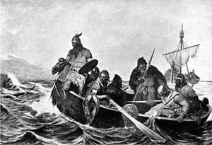 Norsemen_Landing_in_Iceland - Eyrbiggia-Saga