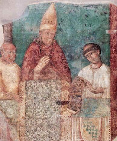 Pope Boniface VIII, fresco by Giotto di Bondone in the Basilica of St. John Lateran, Rome