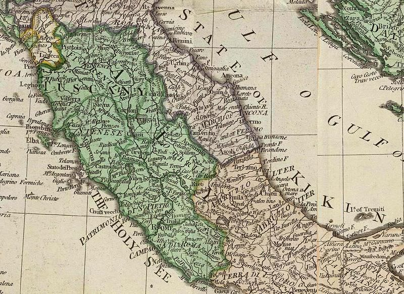 central italy in the 18th century