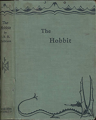 The original cover for The Hobbit in 1937