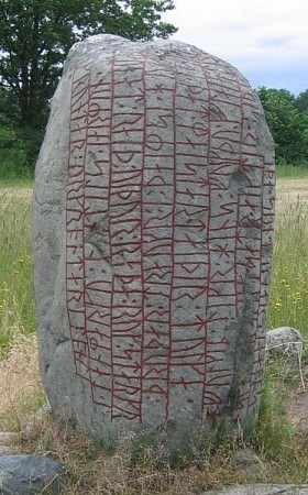 "The Karlevi Runestone is a skaldic Old Norse poem in dróttkvætt, the ""courtly metre"", raised in memory of a Viking chieftain."