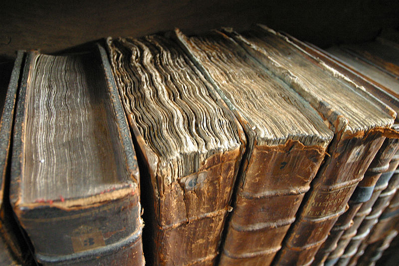 Old book bindings - photo by Tom Murphy VII