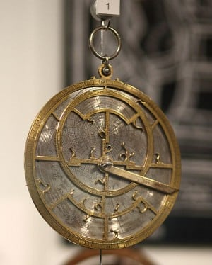 medieva astrolabe - photo by Sage Ross