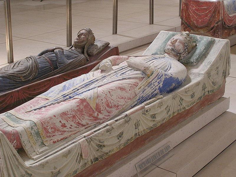 Tomb of Richard I of England at Fontevraud Abbey near Chinon, in Anjou, France