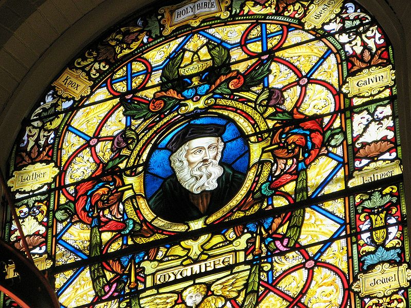 John Wyclif - image at Wycliffe College Chapel, Toronto - photo by Randy OHC