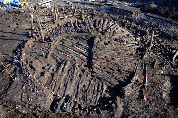floor of a house discovered at Fermanagh Crannog - photo courtesy Department of the Environment