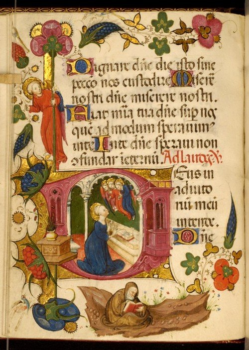 medieval reading - Walters Museum MS. W.322. Creative Commons licensed.