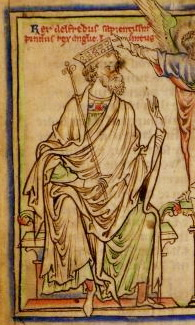 Alfred the Great from a 13th Century manuscript