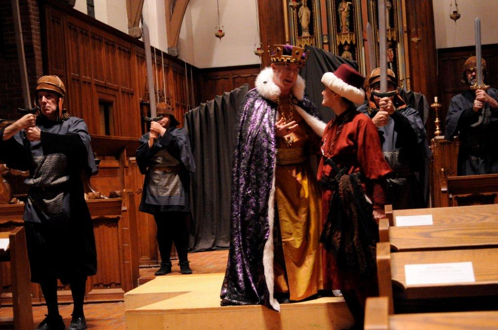 Timothy Wright plays Herod in A Medieval Christmas - photo by Tom Sheridan