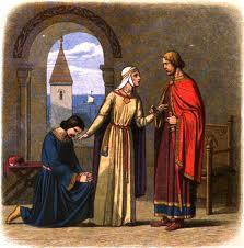 Richard the Lionheart pardoning King John