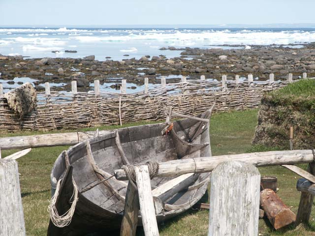 Reconstructed boat at L'Anse-aux-Meadows