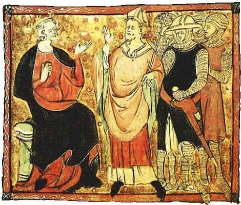 Henry II quarrels with Becket