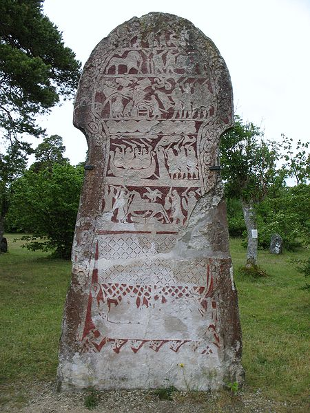 The Stora Hammars I stone. - Gotland picture stone