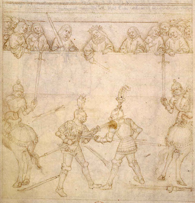 Galeazzo da Montova presides as a judge in a 1408 deed of arms