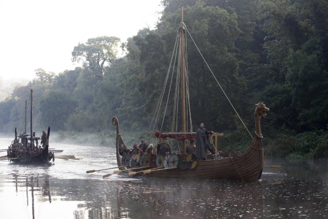 "Viking ship from the HISTORy channel programme, ""Vikings"""