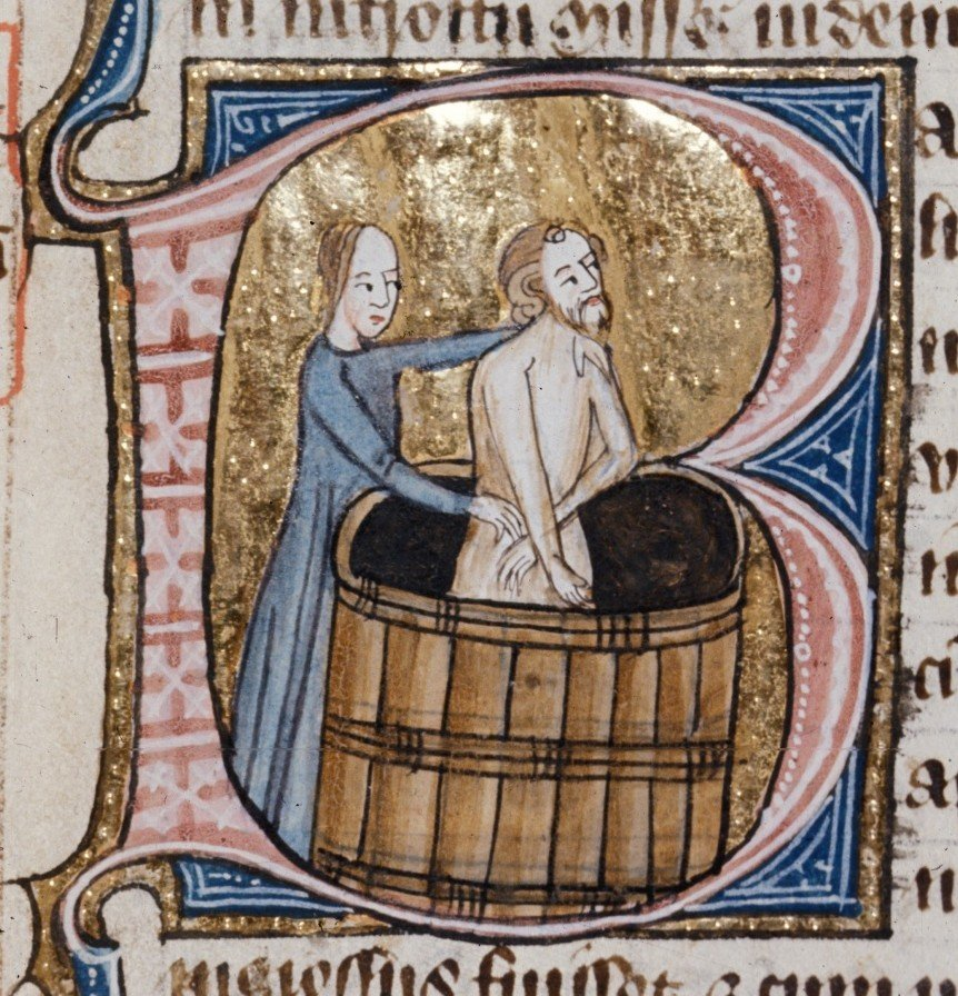 Did people in the Middle Ages take baths?