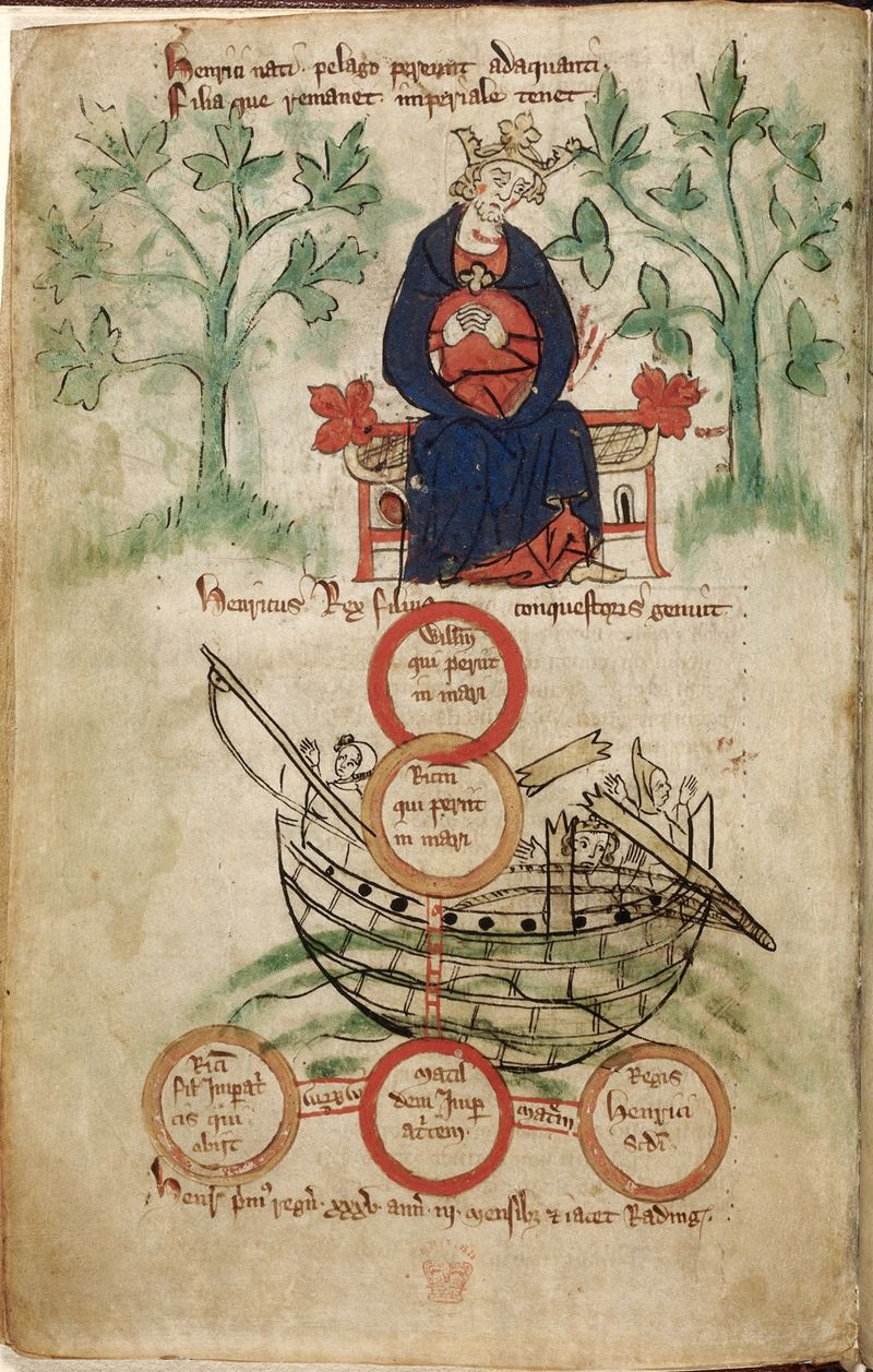 Henry I & White Ship, from a genealogical roll