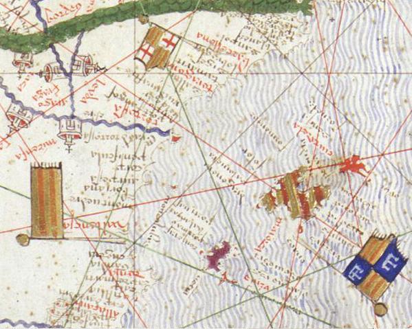 Majorca - Detail of the Catalan Atlas of 1375