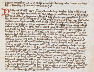 Letter from Robert the Bruce to Edward II