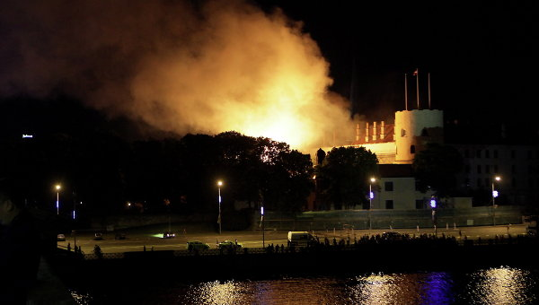 riga castle fire