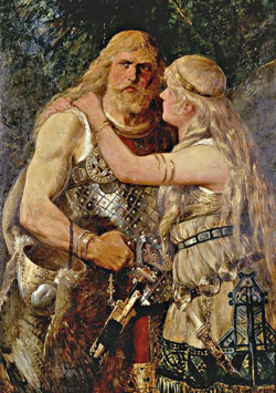 Norse Man and Woman by Johannes Gehrts, 1884