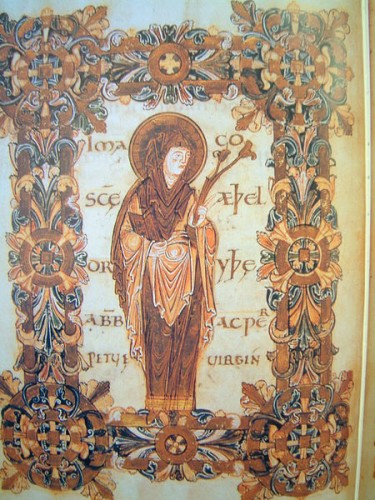 Saint Æthelthryth of Ely from the Benedictional of St. Æthelwold, illuminated manuscript in the British Library