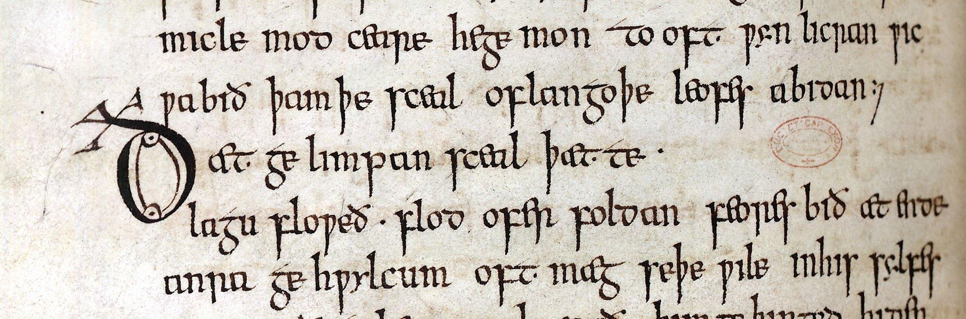 Wifes Lament - Anglo Saxon minuscule