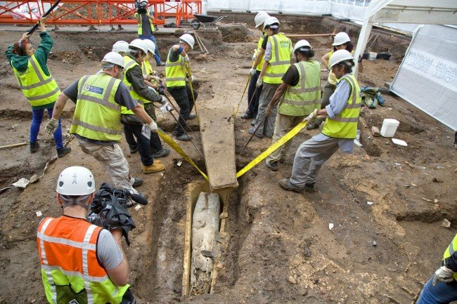 Mystery coffin discovered at Grey Friars dig site - Credit:  University of Leicester
