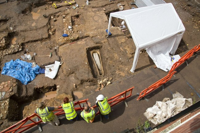 Grey Friars site - Credit:  University of Leicester