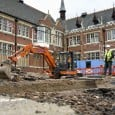 The University of Leicester archaeologists who discovered King Richard III have started work on a new dig at Grey Friars church