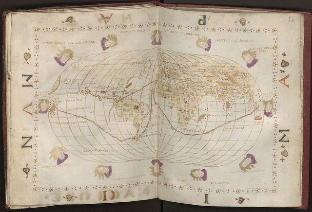 "Shown here is the ""Portolan Atlas,"" a hand-drawn sailing map printed in Venice by famed cartographer Batissta Agnesy in 1540, part of the archives at the Wroclaw University Library. A solution consisting of IBM System x servers and Storage disk and SAN solutions to address the big data challenge of managing and providing fast search and retrieval services for up to 300 terabytes of information.  Photo courtesy of Wroclaw University Library, Poland"