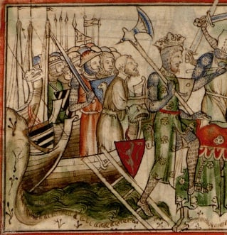 The landing of King Harald Hardrada near York...