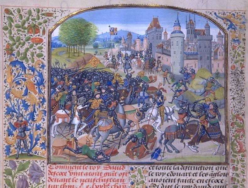 The Scots at the Battle of Neville's Cross, 17 October 1346
