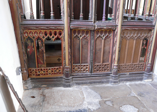 Holy Trinity Church Damaged Panels - photo courtesy Churches Conservation Trust