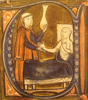 "European depiction of the physician Al-Razi, in Gerardus Cremonensis ""Recueil des traités de médecine"" 1250-1260."