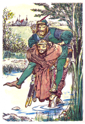 The frontispiece of Howard Pyle's The Merry Adventures of Robin Hood.