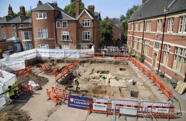 The second dig at the Grey Friars is now completed - Photo Credit:  University of Leicester