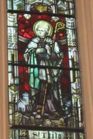 St Teilo in Holy Trinity Church, Abergavenny - photo by Gwenddwr