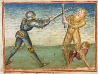 Knight fighting a monster