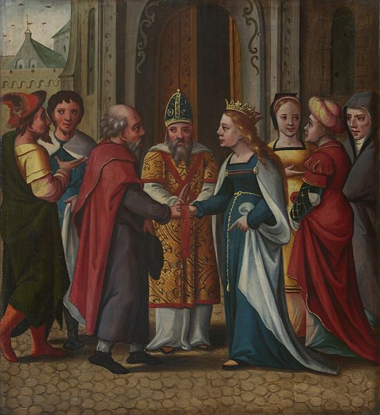 Altarpiece in Pont-à-Mousson, Lorraine, France. Orderer by Duchess of Lorraine :Philippa of Guelders in XVI° century to a factory in Antwerp.