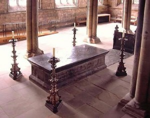 Bede's tomb in Durham Cathedral