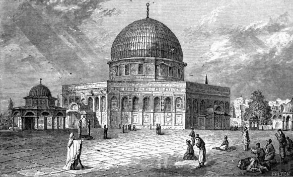 Dome of the Rock depicted in the 19th century