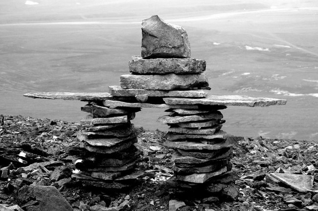 Inukshuk in Nunavut - photo by Xander/Wikicommons