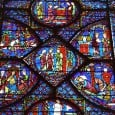 The Charlemagne Window, justly considered one of the most beautiful of the history windows of Chartres Cathedral, is located in the northeastern intermediate radial chapel and can probably be dated to about 1225.