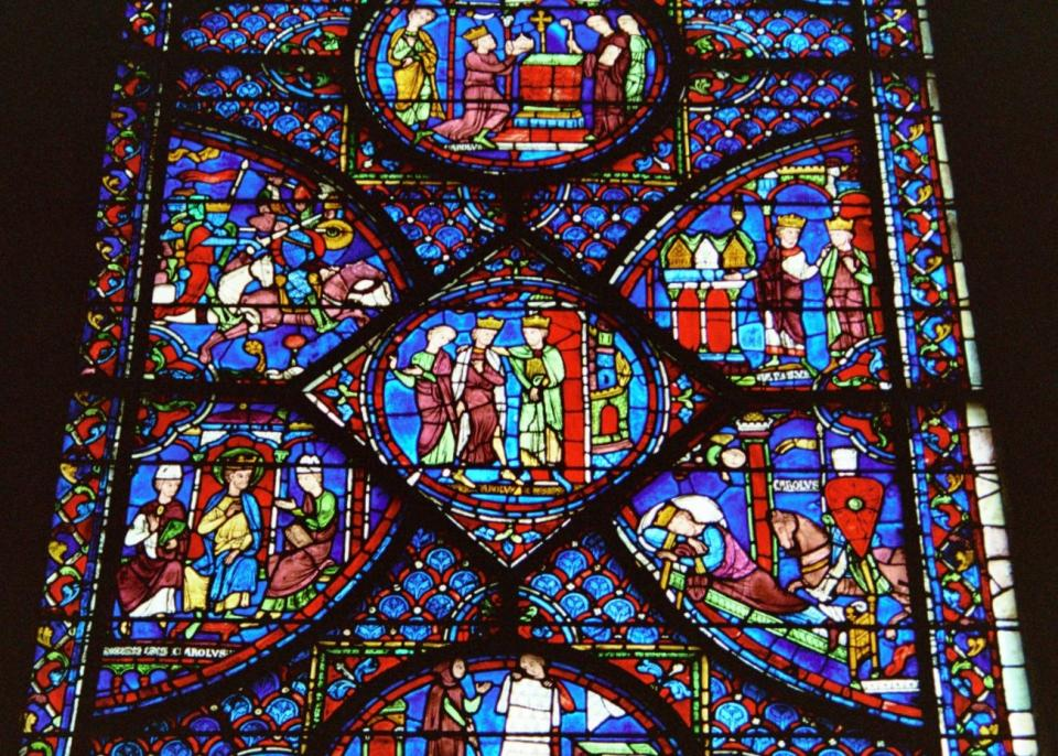 History of Charlemagne Window - Chartres Cathedral