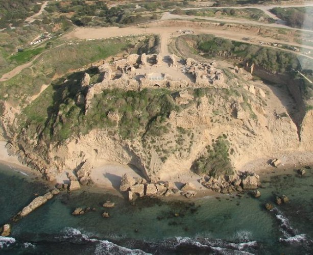 Remains of the Crusader fortress of Arsuf